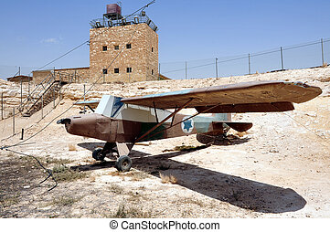 IAF - Piper aircraft - An old piper aircraft plane in Mitzpe...