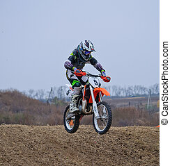 The race for motorcycles Motocross in Russia