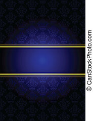 Vector blue and gold background