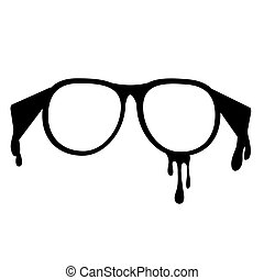 Nerd glasses on isolated white background