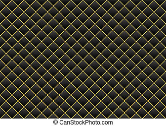 Leather black & gold background