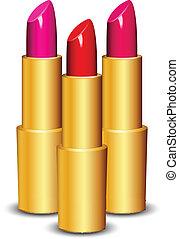Vector Illustration of lipsticks