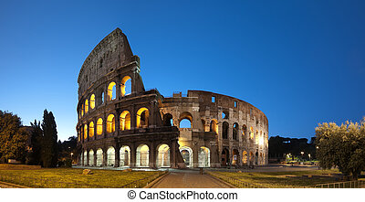 Coliseum in Rome - Italy. - Night image of Coliseum in Rome....