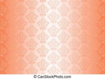 Vector peachy wallpaper