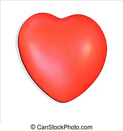 Big red heart isolated