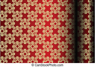 Red & gold material background