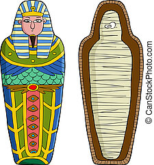 Sarcophagus - The sarcophagus on a white background vector...