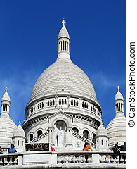 Montmartre cathedral - View from below of the Montmartre...
