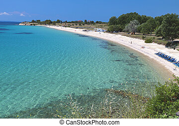 Scenic beach in Greece - Scenic beach of Agios Ioannis at...