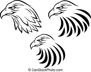 Eagle Head tattoo - Vector Illustration Of Eagle Head tattoo