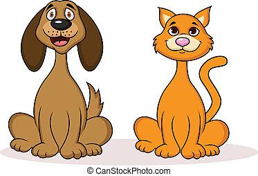 Cat and dog cartoon