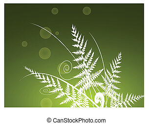 fern background - vector illustration of fern