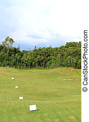 Landscape of golf field