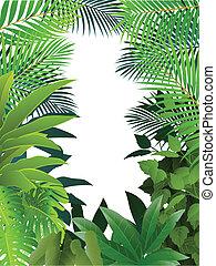 tropicais, floresta, fundo