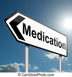 Medication concept - Illustration depicting a road traffic...