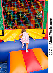 Jumping house - Having fun in inflatable jumping house...