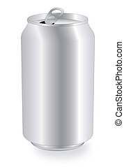 blank drink can - vector drink can over white background