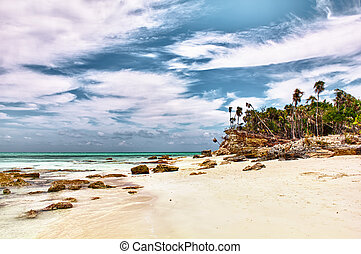 Caribbean Turks & Caicos Half Moon Bay - Postcard view of...