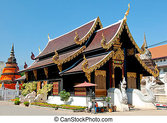 The Beautiful of temple in chiangmai province,Thailand
