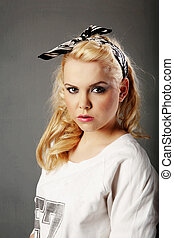 casual clothing teenager - teenager in casual clothing shot...