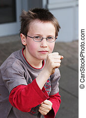 fists - A child with his fists