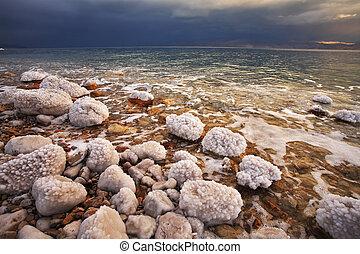 Grandiose thunder-storm on the Dead Sea - Grandiose spring...