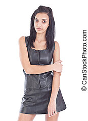 girl in black leather - Images of an amazing girl in black...