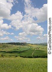 """Crete Senesi - The landscape odf the """"Crete Senesi"""" in..."""