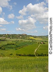 Crete Senesi - The landscape odf the Crete Senesi in Tuscany...