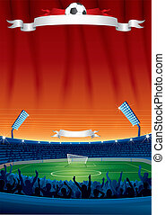 Vector Soccer Background Template - Vector Soccer Background...