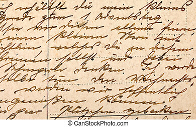 Fragment of an old handwritten letter, written in German....