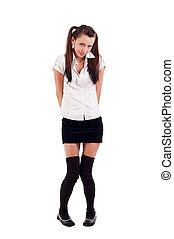 girl in black short skirt - Lovely sexy girl in black short...