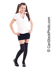Teen student girl in uniform