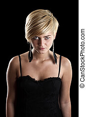 Girl with beautiful blonde hair - Portrait of a girl with...