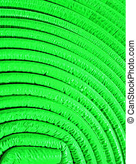 abstract uneven round material, green roll details