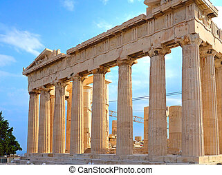 Parthenon in Acropolis in Greece