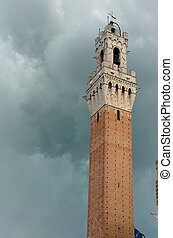 """Torre del Mangia - The famous """"Torre del Mangia"""" in Siena..."""