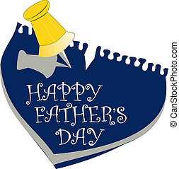 Happy fathers day - Father day text template...