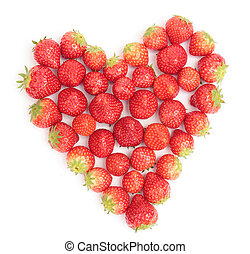 heart of strawberries - strawberries shaped to form a heart...