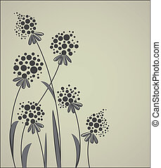 floral - Floral abstract vector background with space for...