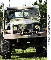 Military truck - Camouflage green military or army off road...