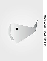 Whale made by origami technique
