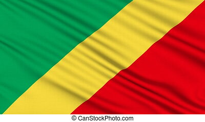 Republic of the Congo Flag.