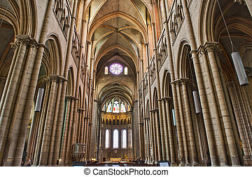 Interior of St. John's Cathedral of Lyon near the Soane...
