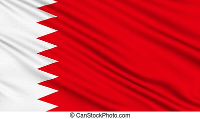 Bahraini Flag. - Bahraini Flag, with real structure of a...