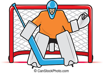 Hockey Goalie - A stylized depiction of a hockey goaltender...