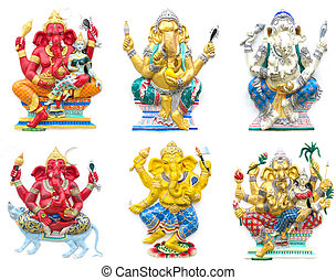 Hindu ganesha God Named Maha Ganapati at temple in thailand