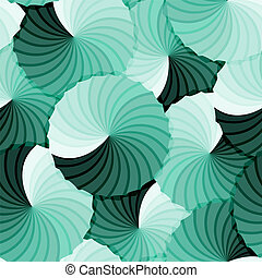Seamless abstract rosette green gradient background -...