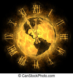 Cosmic time - global warming and climate change - America