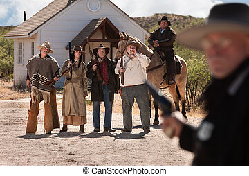 Gang of Six Old West Outlaws